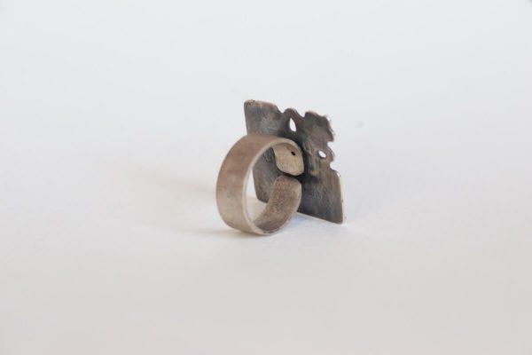 anillo plata brillante fragments reverso