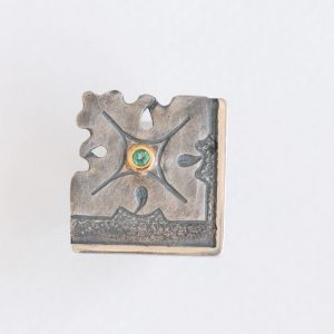 anillo plata esmeralda fragments