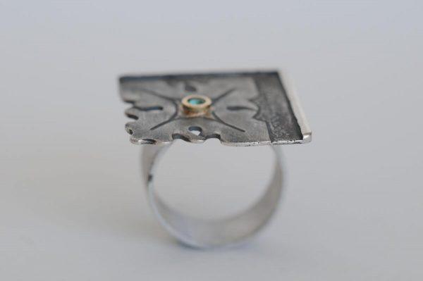 anillo plata esmeralda fragments lateral
