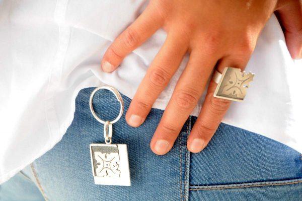 anillo plata fragments modelo