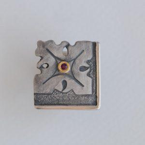 anillo plata rubi fragments