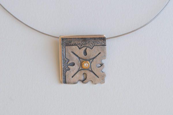 colgante plata brillante fragments