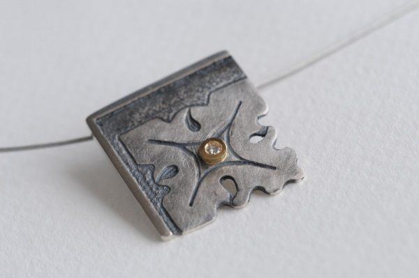 colgante plata brillante fragments detalle