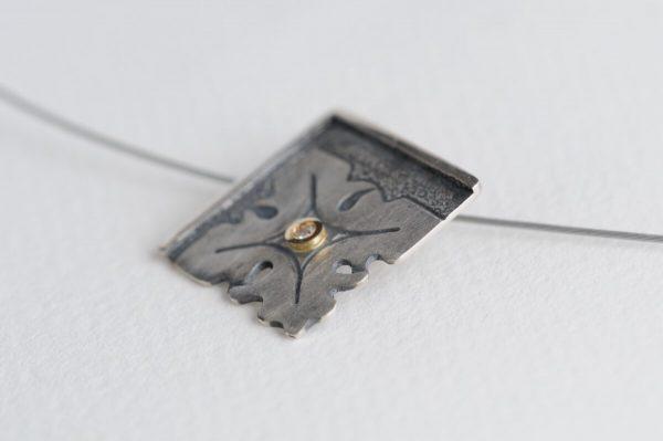 colgante plata brillante fragments lateral
