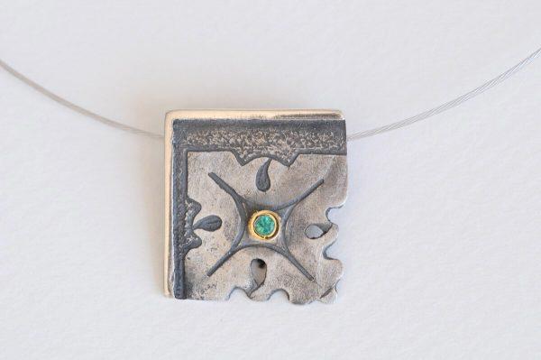 colgante plata esmeralda fragments