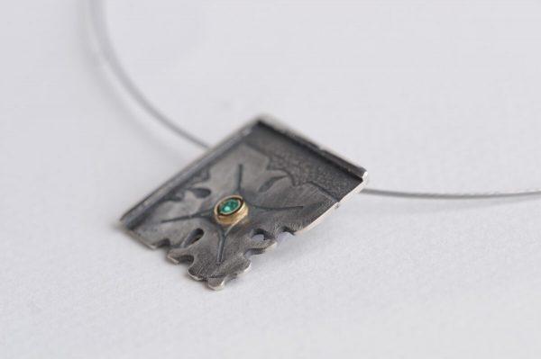 colgante plata esmeralda fragments lateral