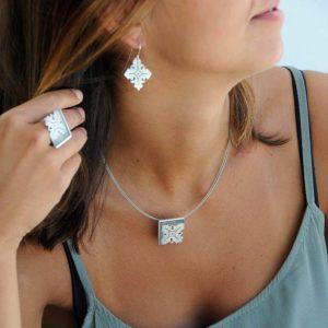 colgante plata fragments cuello