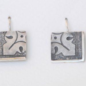 pendientes plata cierre gancho fragments